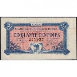 Tarbes - Pirot 120-16 variété - 50 centimes - Série IV - 23/09/1917 - Etat : SUP