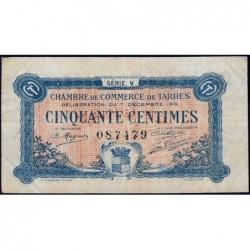 Tarbes - Pirot 120-20 variété - 50 centimes - Série V - 07/12/1919 - Etat : TTB