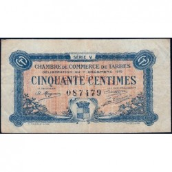 Tarbes - Pirot 120-20 variété - Série V - 50 centimes - 07/12/1919 - Etat : TTB