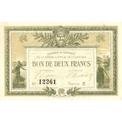 La Roche-sur-Yon (Vendée) - Pirot 65-21 variété - 2 francs - Série C - 1915 - Etat : TTB+