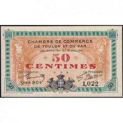 Toulon - Pirot 121-1 - 50 centimes - Série 301 - 19/06/1916 - Etat : NEUF