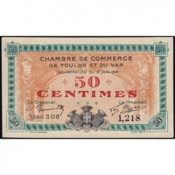 Toulon - Pirot 121-1 - 50 centimes - Série 306 - 19/06/1916 - Etat : SPL
