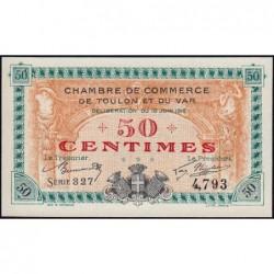 Toulon - Pirot 121-1- 50 centimes - Série 327 - 19/06/1916 - Etat : NEUF