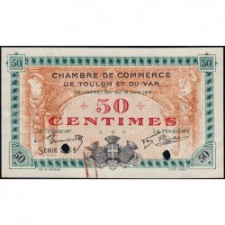 Toulon - Pirot 121-2 - 50 centimes - Série 331 - 19/06/1916 - Annulé - Etat : SUP