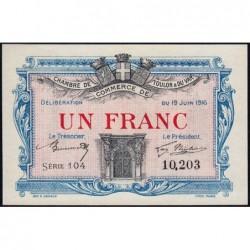 Toulon - Pirot 121-4 - 1 franc - Série 104 - 19/06/1916 - Etat : NEUF
