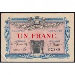 Toulon - Pirot 121-4 - 1 franc - Série 129 - 19/06/1916 - Etat : TTB+