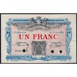 Toulon - Pirot 121-5 - 1 franc - Série 130 - 19/06/1916 - Annulé - Etat : SUP+