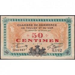 Toulon - Pirot 121-7 - 50 centimes - Série 357 - 19/06/1916 - Etat : TTB
