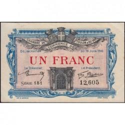 Toulon - Pirot 121-8 - 1 franc - Série 151 - 19/06/1916 - Etat : SUP+