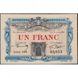Toulon - Pirot 121-8 - 1 franc - Série 195 - 19/06/1916 - Etat : SUP