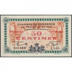Toulon - Pirot 121-10 - 50 centimes - 3e émission - Série 433 - 12/02/1917 - Etat : NEUF
