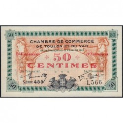 Toulon - Pirot 121-10 - 50 centimes - Série 433 - 12/02/1917 - Etat : NEUF