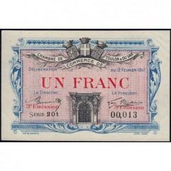 Toulon - Pirot 121-12 - 1 franc - 3e émission - Série 201 - 12/02/1917 - Petit numéro - Etat : SUP