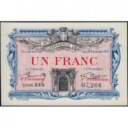 Toulon - Pirot 121-12 - 1 franc - 3e émission - Série 222 - 12/02/1917 - Etat : pr.NEUF