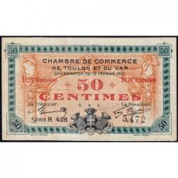 Toulon - Pirot 121-14 - 50 centimes - 3e émission - Série R 426 - 12/02/1917 - Etat : TTB
