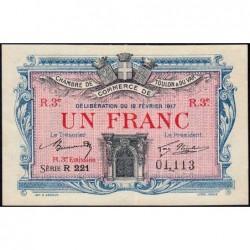 Toulon - Pirot 121-16 - 1 franc - 3e émission - Série R 221 - 12/02/1917 - Etat : SUP+