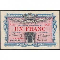 Toulon - Pirot 121-16 - 1 franc - Série R 221 - 12/02/1917 - Etat : SUP+