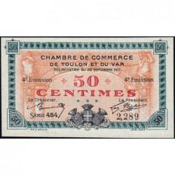Toulon - Pirot 121-18 - 50 centimes - Série 454 - 20/09/1917 - Etat : NEUF