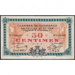 Toulon - Pirot 121-18 - 50 centimes - 4e émission - Série 467 - 20/09/1917 - Etat : SPL