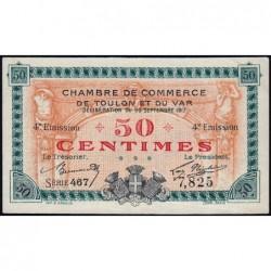 Toulon - Pirot 121-18 - 50 centimes - Série 467 - 20/09/1917 - Etat : SPL