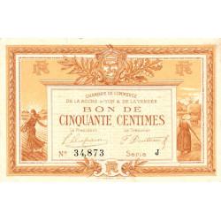 La Roche-sur-Yon (Vendée) - Pirot 65-23-J - 50 centimes - 1915 - Etat : TTB
