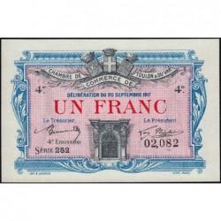 Toulon - Pirot 121-20 - 1 franc - Série 252 - 20/09/1917 - Etat : NEUF