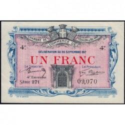 Toulon - Pirot 121-20 - 1 franc - Série271 - 20/09/1917 - Etat : SUP+
