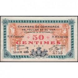 Toulon - Pirot 121-22 - 50 centimes - 4e émission - Série R 483 - 20/09/1917 - Etat : SPL