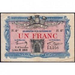 Toulon - Pirot 121-24 - 1 franc - 4e émission - Série R 526 - 20/09/1917 - Etat : TTB