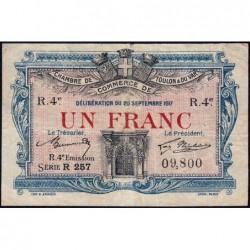 Toulon - Pirot 121-24 - 1 franc - Série R 257 - 20/09/1917 - Etat : TB