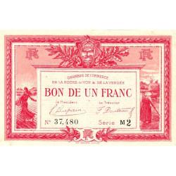 La Roche-sur-Yon (Vendée) - Pirot 65-24 - 1 franc - Série M2 - 1915 - Etat : TTB+