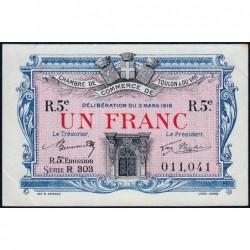 Toulon - Pirot 121-29 - 1 franc - Série R 303 - 03/03/1919 - Etat : SUP+