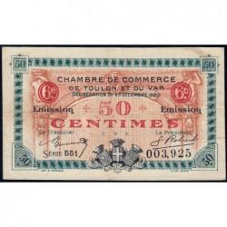 Toulon - Pirot 121-30 - 50 centimes - Série 551 - 23/12/1920 - Etat : TTB