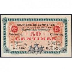 Toulon - Pirot 121-30 - 50 centimes - Série 570 - 23/12/1920 - Etat : SUP+