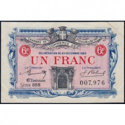 Toulon - Pirot 121-31 - 1 franc - 6e émission - Série 368 - 23/12/1920 - Etat : SUP