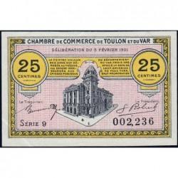 Toulon - Pirot 121-32- 25 centimes - Série 9 - 03/02/1921 - Etat : SUP+