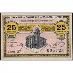 Toulon - Pirot 121-32 - 25 centimes - Série 27 - 03/02/1921 - Etat : NEUF