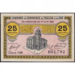 Toulon - Pirot 121-34 - 25 centimes - Série 146 - 01/06/1922 - Etat : TTB+