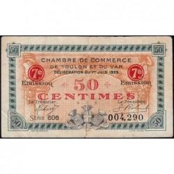 Toulon - Pirot 121-35 - 50 centimes - 7e émission - Série 606 - 01/06/1922 - Etat : TTB