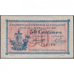 Toulouse - Pirot 122-1 - 50 centimes - Sans série - 06/11/1914 - Etat : TTB+