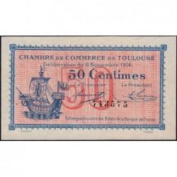Toulouse - Pirot 122-1 - 50 centimes - Sans série - 06/11/1914 - Etat : SUP+