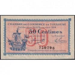 Toulouse - Pirot 122-01 variété - Sans série - 50 centimes - 06/11/1914 - Etat : SUP