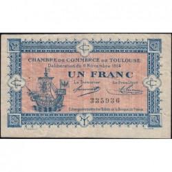 Toulouse - Pirot 122-6 - 1 franc - Sans série - 06/11/1914 - Etat : TB+