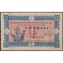 Toulouse - Pirot 122-06 variété - Sans série - 1 franc - 06/11/1914 - Etat : TB