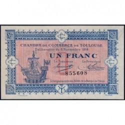 Toulouse - Pirot 122-6 variété - 1 franc - Sans série - 06/11/1914 - Etat : SUP+