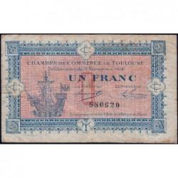 Toulouse - Pirot 122-06 - Sans série - 1 franc - 06/11/1914 - Etat : B+