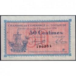 Toulouse - Pirot 122-08 variété - Série 2 - 50 centimes - 06/11/1914 - Etat : SUP+