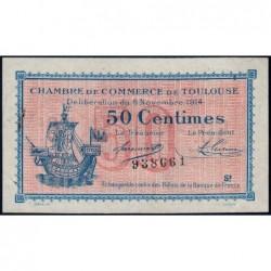 Toulouse - Pirot 122-08 variété - Série 2 - 50 centimes - 06/11/1914 - Etat : SUP