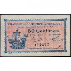 Toulouse - Pirot 122-8 - 50 centimes - Série III - 06/11/1914 - Etat : SUP+