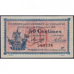 Toulouse - Pirot 122-8 variété - 50 centimes - Série III - 06/11/1914 - Etat : SUP+